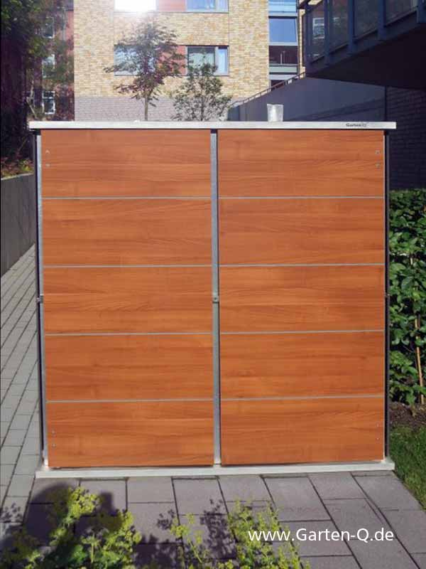Gartenschrank metall kunststoff garten q gmbh for Holzdekor garten