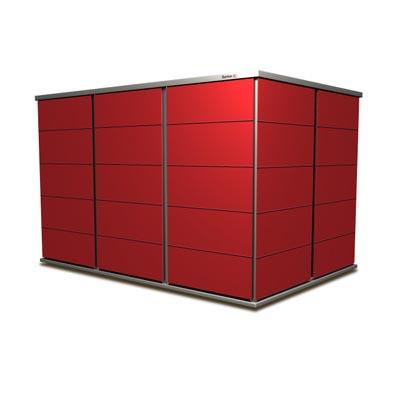 gartenhaus flachdach modern garten q gmbh. Black Bedroom Furniture Sets. Home Design Ideas