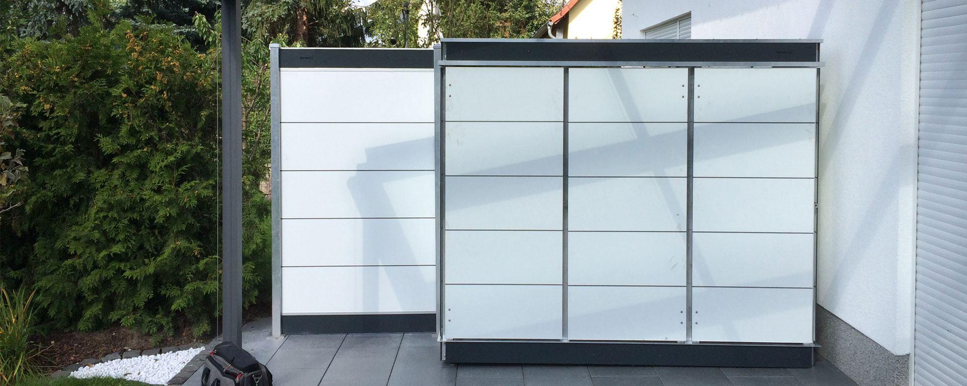 terrassensichtschutz sichtschutzwand aus verschiedenen. Black Bedroom Furniture Sets. Home Design Ideas