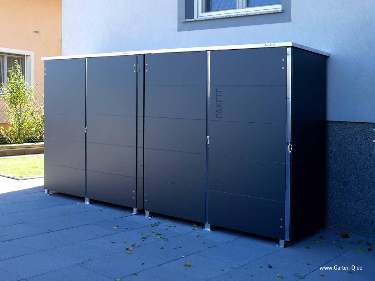 m lltonnenbox m llbox aus metall oder edelstahl garten q gmbh. Black Bedroom Furniture Sets. Home Design Ideas
