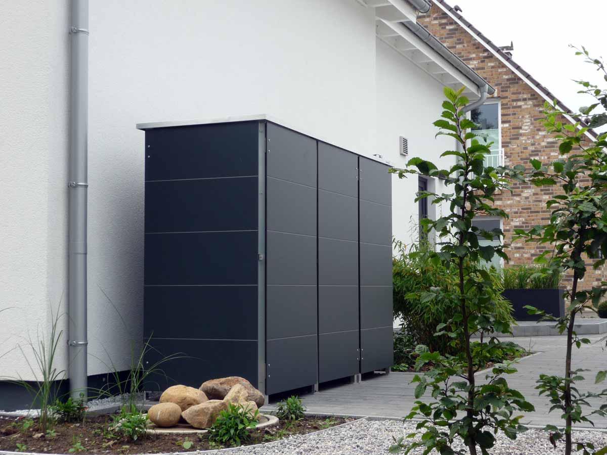 m lltonnenbox m llbox aus metall oder edelstahl. Black Bedroom Furniture Sets. Home Design Ideas