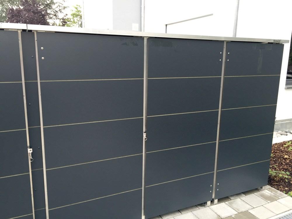 bekannt m lltonnenbox metall anthrazit cx91 kyushucon. Black Bedroom Furniture Sets. Home Design Ideas