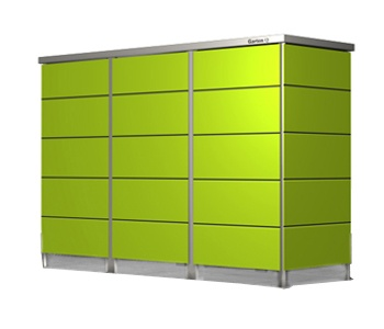 Mülltonnenbox Lime-green