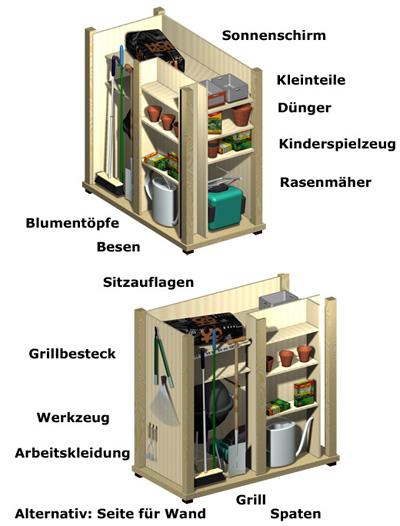 Hervorragend Gartengeräteschrank | moderner Geräteschrank aus Holz - Garten-Q GmbH AE86