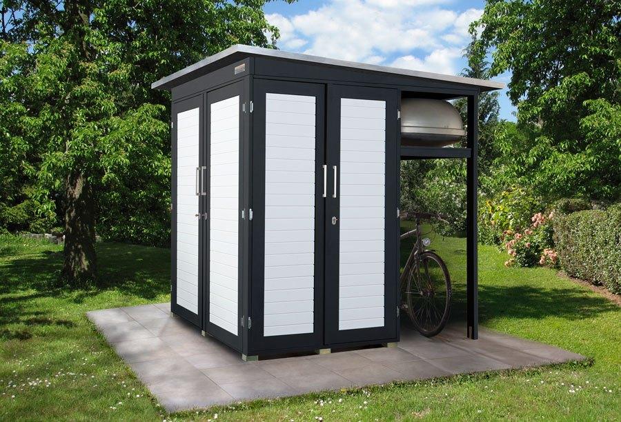 gartenhaus modern garten q garten q gmbh. Black Bedroom Furniture Sets. Home Design Ideas