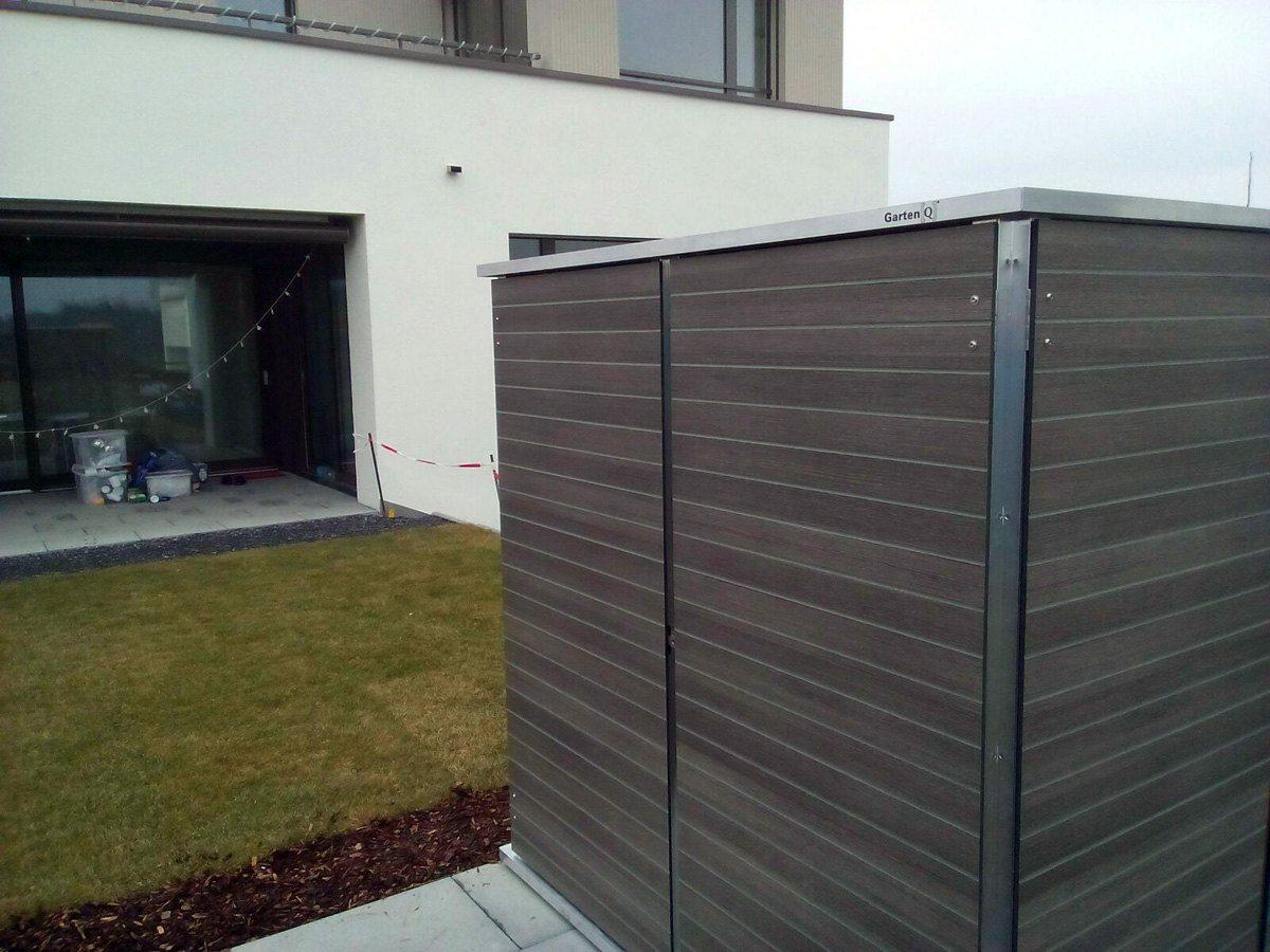 Gartenhaus modern garten q garten q gmbh for Gartenhaus modern selber bauen