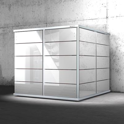 Design gartenhaus garten q garten q gmbh - Gartenhaus metall modern ...