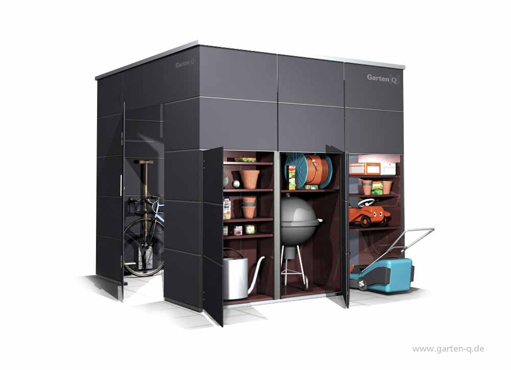 gartenhaus gartenschrank garten q gmbh. Black Bedroom Furniture Sets. Home Design Ideas