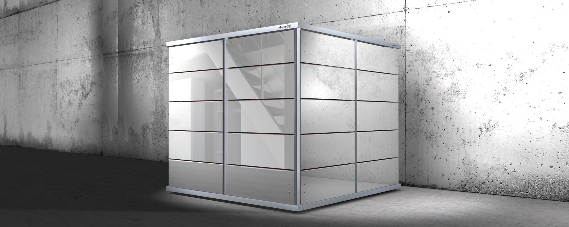 kleines gartenhaus cube von garten q garten q gmbh. Black Bedroom Furniture Sets. Home Design Ideas