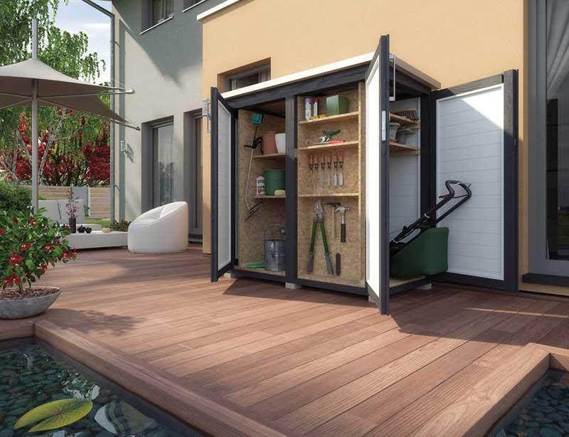 outdoor schrank garten q gmbh. Black Bedroom Furniture Sets. Home Design Ideas