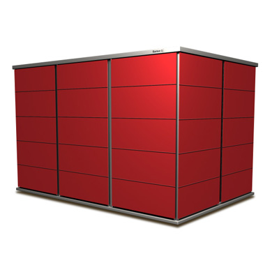 Gartenhaus in carmine red