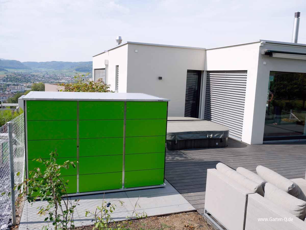 Gartenhaus Gartenschrank Für Dachterrassen U Vorgarten Garten Q Gmbh