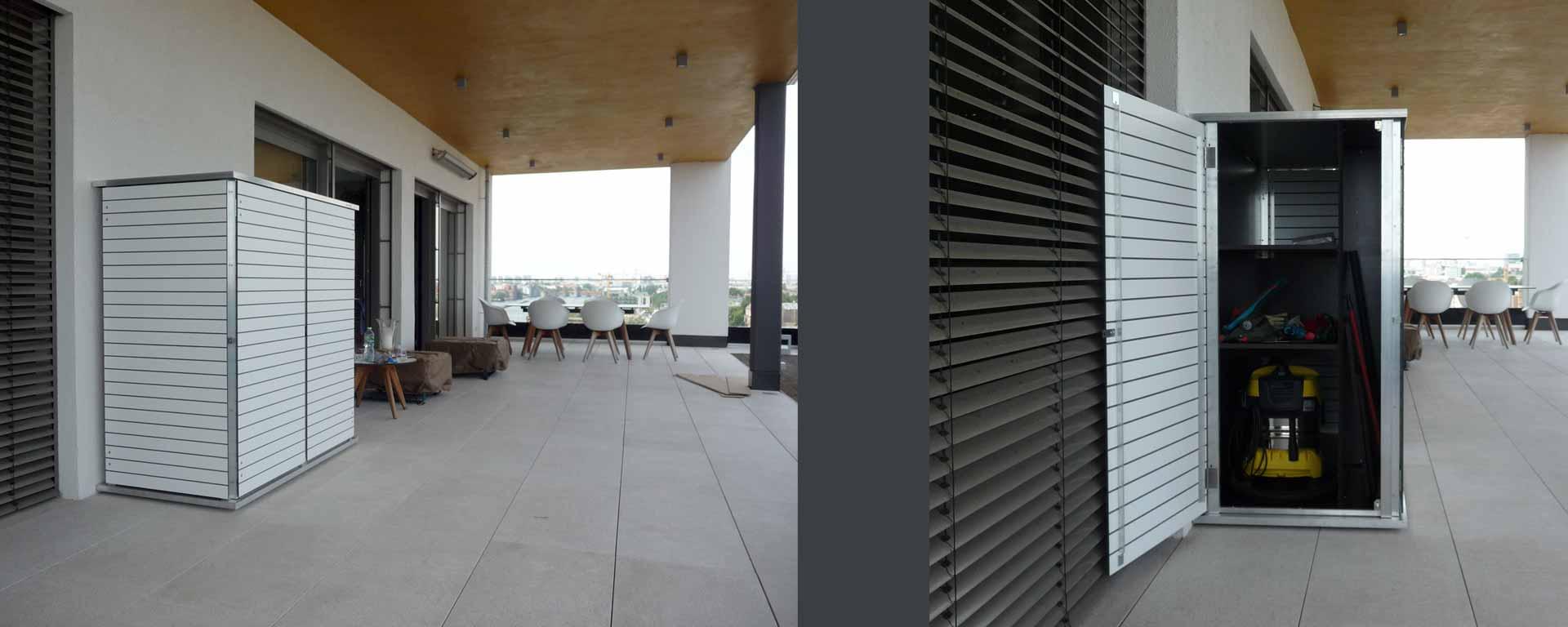 Gartenhaus, Gartenschrank für Dachterrassen u. Vorgarten - Garten-Q GmbH