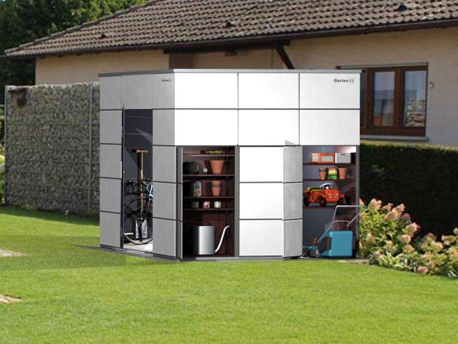 design gartenhaus modern garten q gmbh. Black Bedroom Furniture Sets. Home Design Ideas